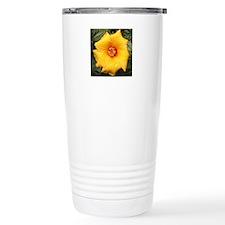 Droplets on Yellow Travel Coffee Mug