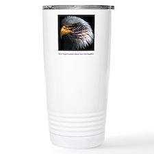 eagle with text Travel Mug