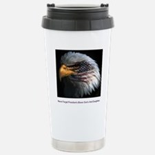 eagle with text Travel Mug