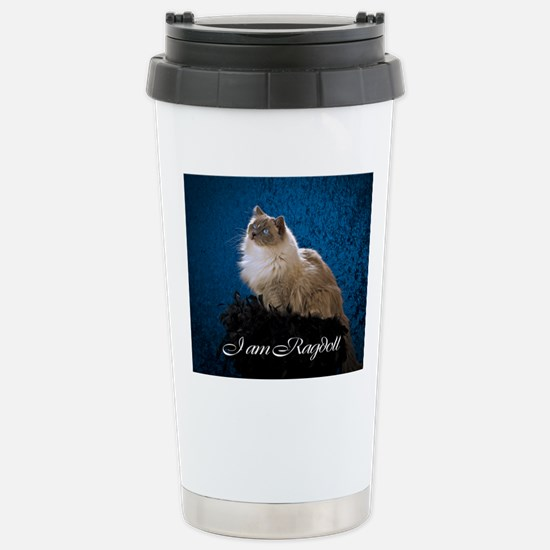 Zoey Mousepad Stainless Steel Travel Mug