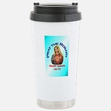 pray_ornament_tall_circ Travel Mug