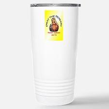 pray_ornament_tall_circ Stainless Steel Travel Mug