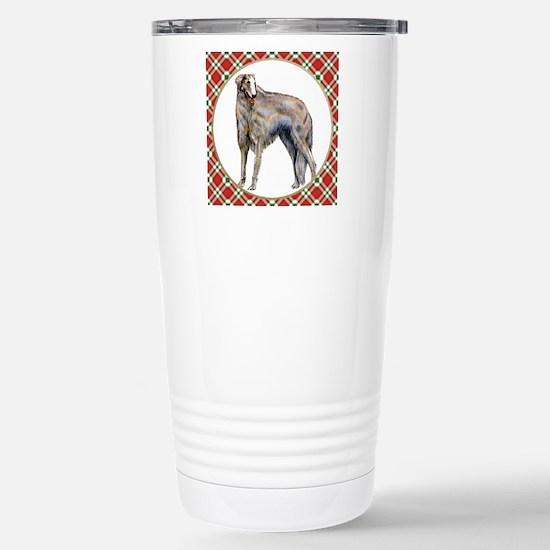 RDORN-borzoi-christmas Stainless Steel Travel Mug