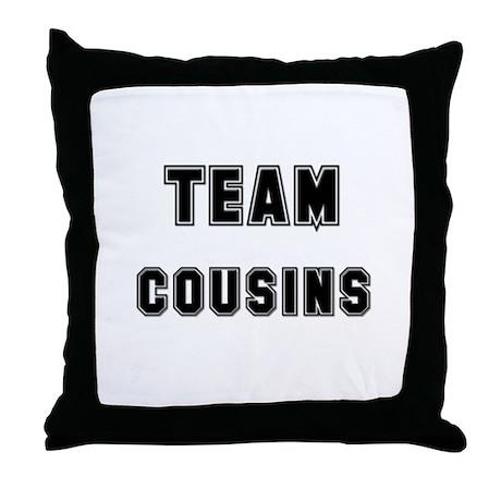 TEAM COUSINS Throw Pillow