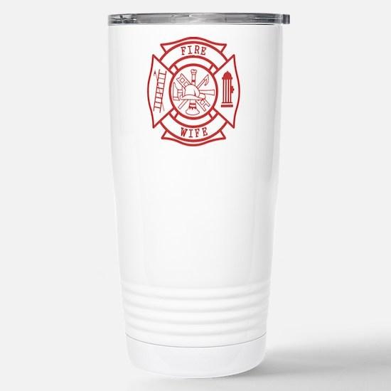 fire wife maltese cross Stainless Steel Travel Mug