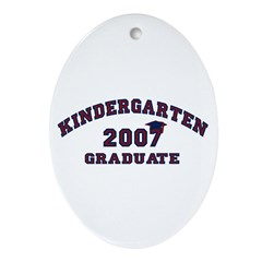 Kindergarten Graduation Gifts Oval Ornament