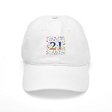 Rainbow Stars 21st Birthday Baseball Cap