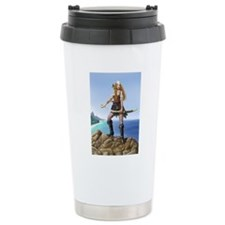 pirate wench fin bg Travel Coffee Mug