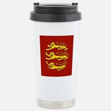 lion passant for round  Stainless Steel Travel Mug
