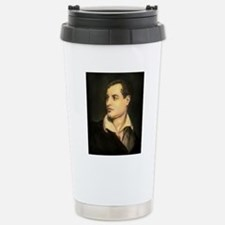 byron portrait coloured Stainless Steel Travel Mug