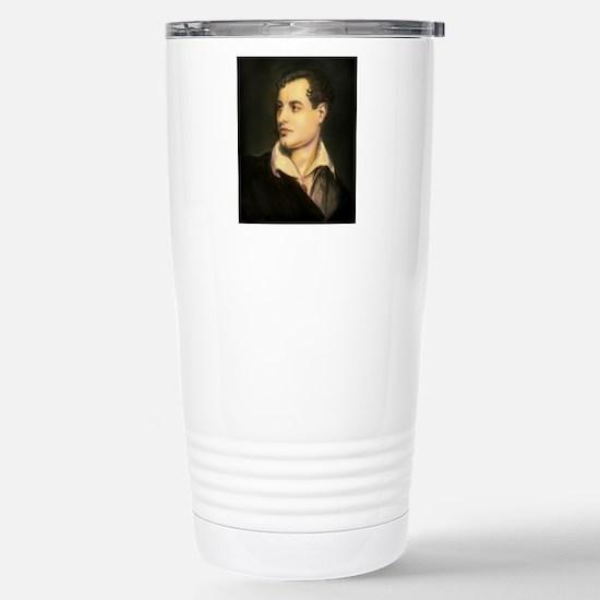 byron portrait coloured Stainless Steel Travel Mug