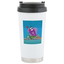 4-blow_fish_purple Travel Mug