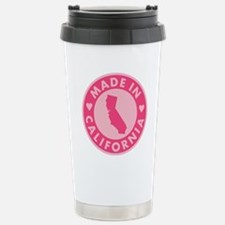 Pink-Made-In-Califotnia Travel Mug