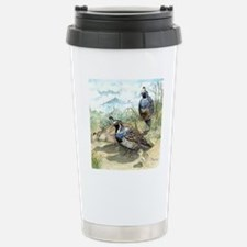 Quail on a Summer Day Stainless Steel Travel Mug