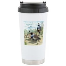 Quail on a Summer Day Travel Mug