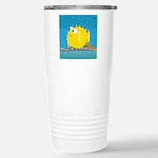 2-puffy_fish_yellow Travel Mug