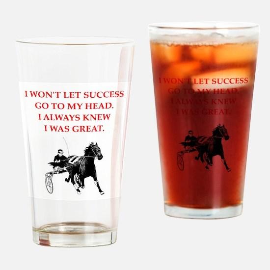 harness racing Drinking Glass