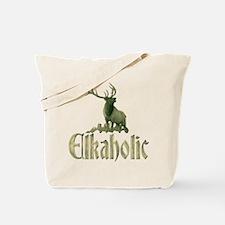Elkaholic stag Tote Bag