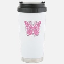 Breast-Cancer-Butterfly Travel Mug