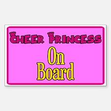 Cheer Princess On Board Rectangle Decal