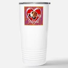 I Love My Foxhound Stainless Steel Travel Mug