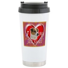 2-I Love My Jack Russel Travel Mug