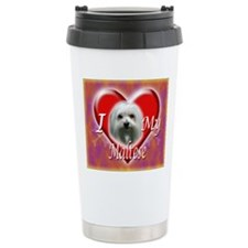 I Love My Maltese Travel Mug