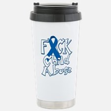 Fuck-Child-Abuse-blk Stainless Steel Travel Mug