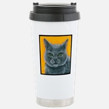 Russian Blue Cat Bill t Stainless Steel Travel Mug
