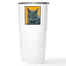 Russian Blue Cat Bill t Travel Mug
