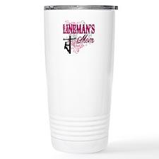 linemans mom white shir Travel Mug