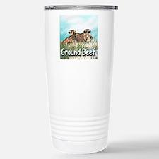 GROUND BEEF tile Travel Mug