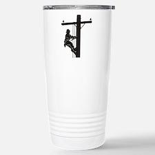lineman silhouette 1_bl Travel Mug