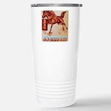 Barrel Horse lettered P Stainless Steel Travel Mug