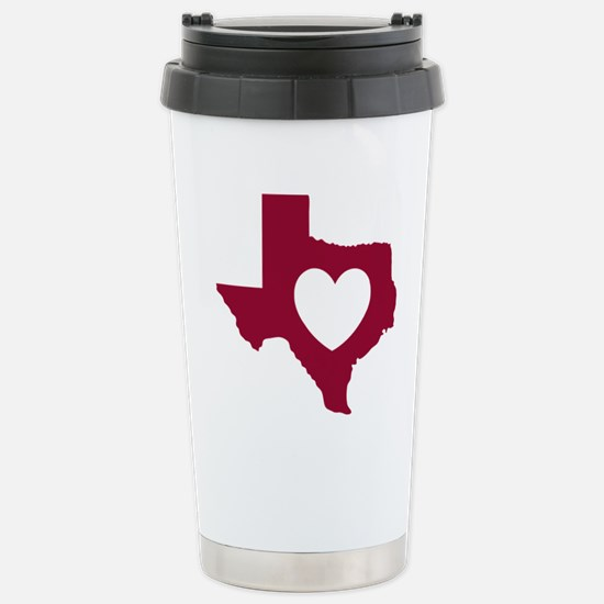 heart_maroon Stainless Steel Travel Mug