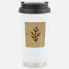 featherLobeOak Stainless Steel Travel Mug