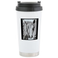 10x10horsewhispcharcoal Travel Mug