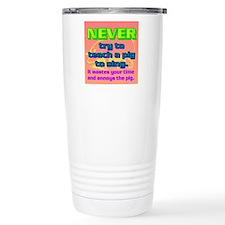 NEVER try to teach a pi Travel Mug