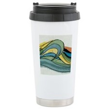 wave_square Travel Coffee Mug