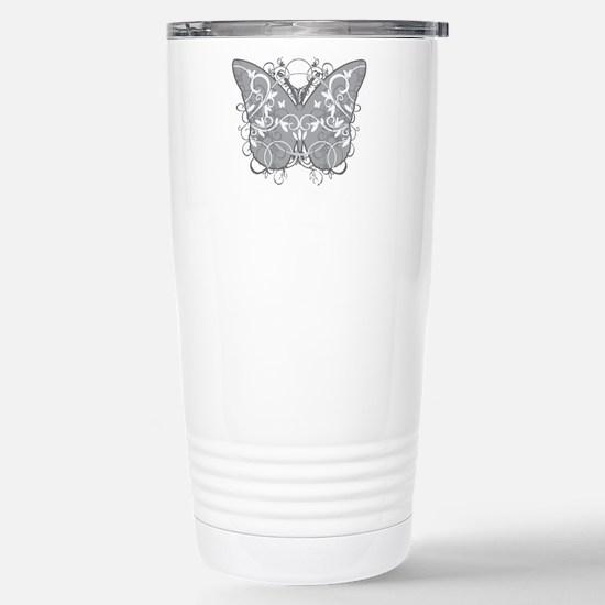 Diabetes-Butterfly-blk Stainless Steel Travel Mug