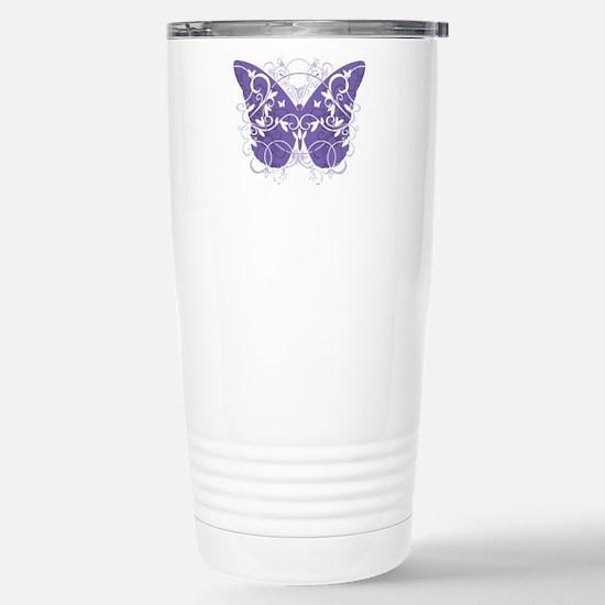Epilepsy-Butterfly-blk Stainless Steel Travel Mug