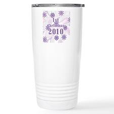SNOWFLKFIRSTXMASBABY201 Travel Mug