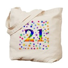 Rainbow Stars 21st Birthday Tote Bag