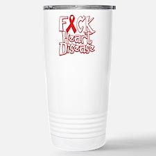 Fuck-Heart-Disease-blk Stainless Steel Travel Mug
