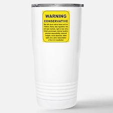 WARNING CONSERVATIVE Stainless Steel Travel Mug
