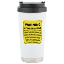 WARNING CONSERVATIVE Travel Mug