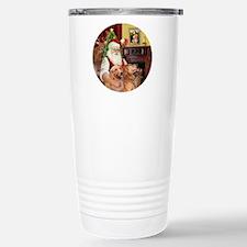 (R) - Santa - GoldenRet Stainless Steel Travel Mug