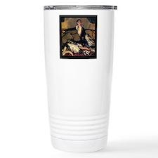 2-Deco Lady Dog Border Travel Mug