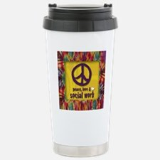 3-PeaceLogo Stainless Steel Travel Mug