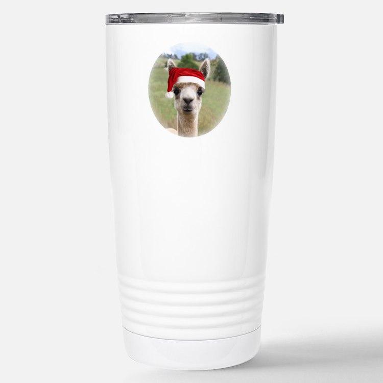 Sheba Alpaca at Christm Travel Mug